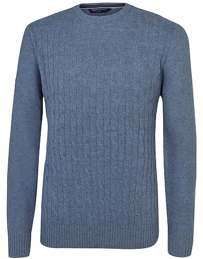 Lewis Cable Crew Neck Jumper