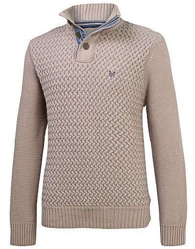 Meltham Half Button Jumper