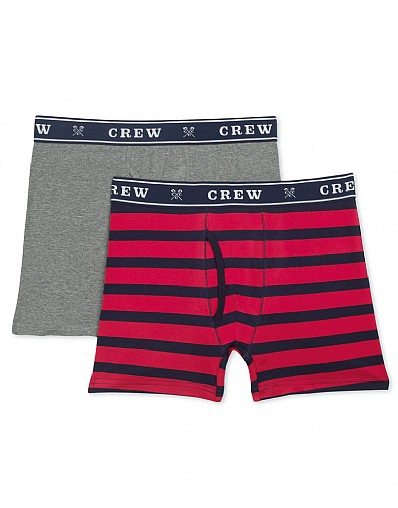 Wide Stripe/Plain Boxer Shorts