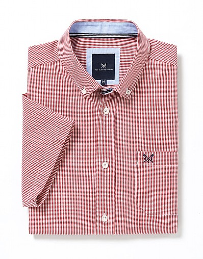 Short Sleeve Micro Gingham Shirt