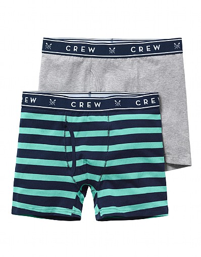 2 Pack Jersey Wide Stripe Boxers