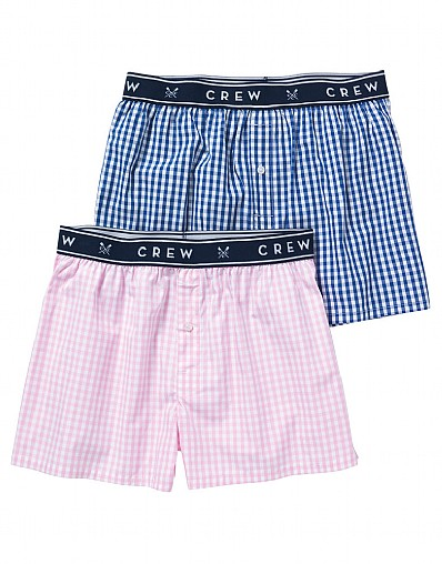 2 Pack Gingham Woven Boxers