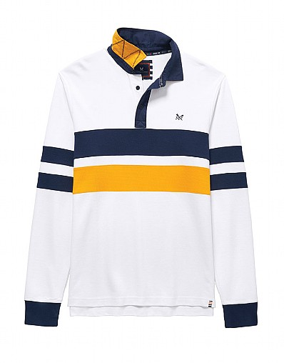 Crew Club Men's Long Sleeve Stripe Rugby