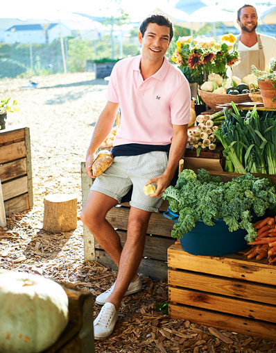 Stripe Bermuda Short