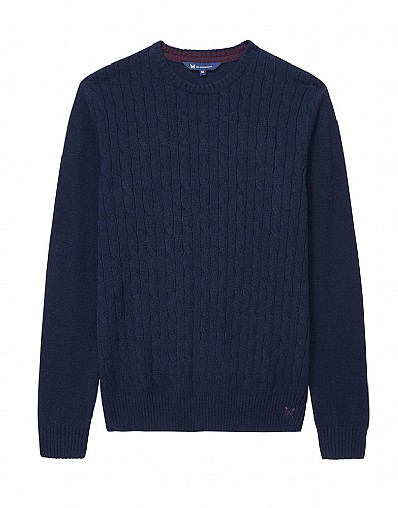 Lambswool Cable Crew Neck