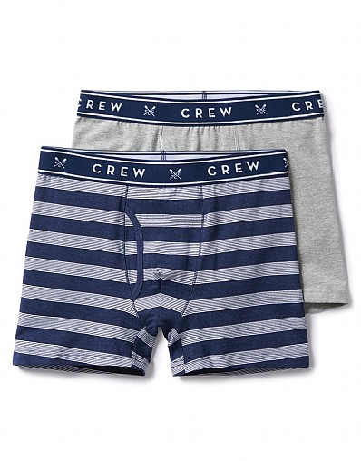 2 Pack Mini Stripe Boxers