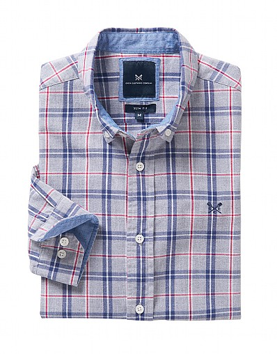 Anderby Slim Fit Check Shirt in Grey
