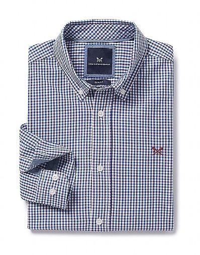 Sandbanks Slim Fit Shirt In Ultramarine Blue