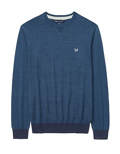 Westbrook Crew Neck Linen Mix Jumper