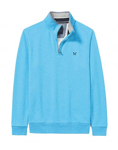 Classic Half Zip Sweatshirt In Salcombe Blue