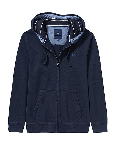 Crosscombe Beach Zip Through Sweatshirt In Navy