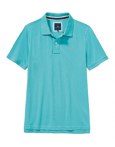 Classic Pique Polo Shirt In Azure Blue