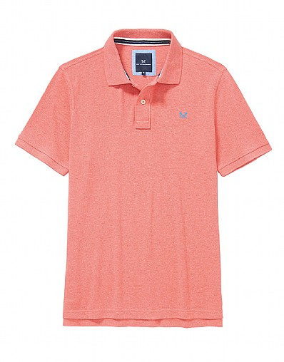 Classic Pique Polo Shirt In Coral Marl