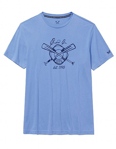 Oars T-Shirt In Bluebell Blue