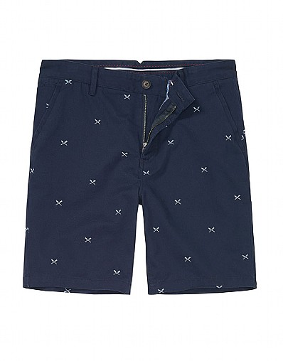 Whitesands Embroidery Shorts In Dark Navy
