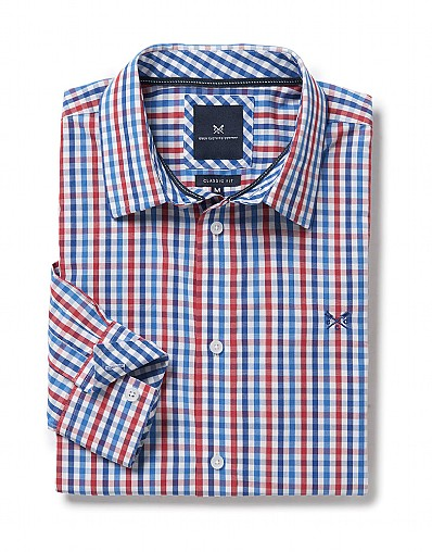 Crew Classic Fit Gingham Shirt in Crimson Red