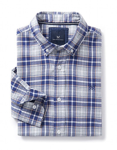 Marl Classic Fit Check Shirt in Heritage Navy