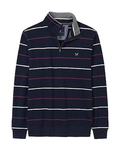 Classic Half Zip Sweatshirt in Dark Navy