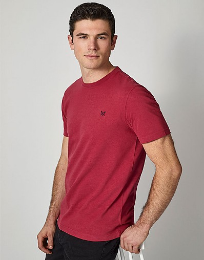 Crew Classic T-Shirt in Washed Cherry