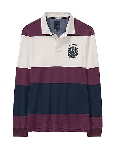 Langstone Rugby Shirt in Washed Plum
