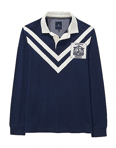 Chevron Rugby Shirt in Heritage Navy