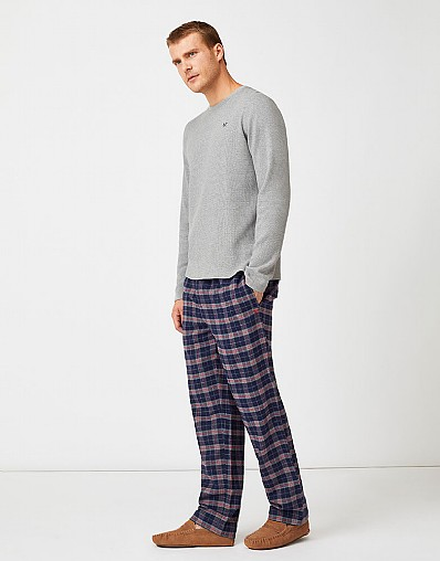 Sunday Lounge Trouser in Navy Blue Check