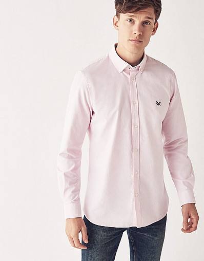 Crew Slim Fit Oxford Shirt in Classic Pink
