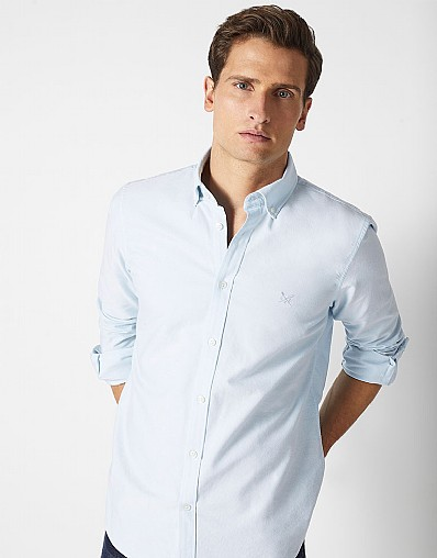 Crew Slim Fit Oxford Shirt in Cove Blue