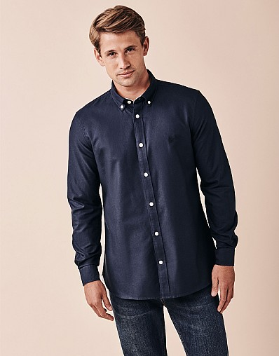 Crew Slim Fit Oxford Shirt in Heritage Navy