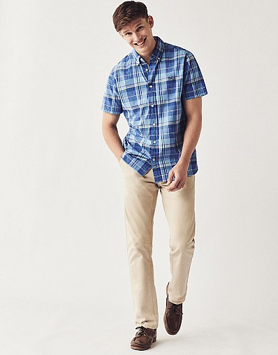 Madras Classic Fit Short Sleeve Shirt