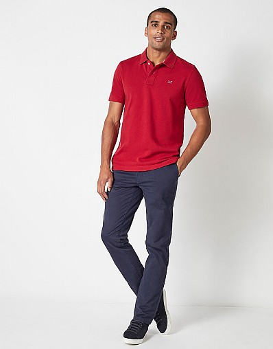 Classic Pique Polo in Henley Red