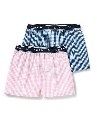 2 Pack Woven Boxers