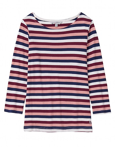 Ultimate Breton Stripe 3/4 Sleeve Tee