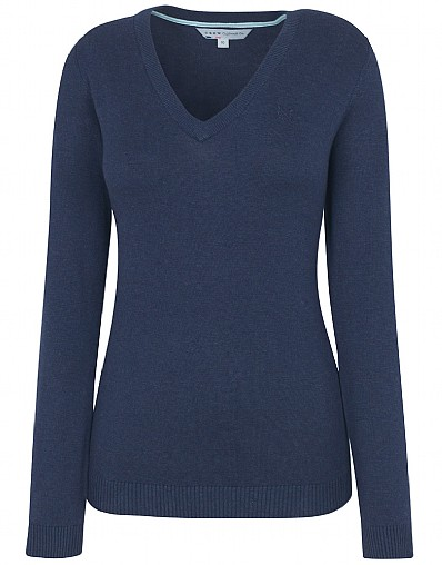Plain V-Neck Jumper