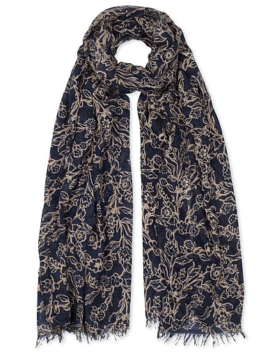 Heather Carnation Print Scarf