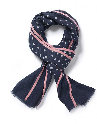 Painted Polka Dot Scarf