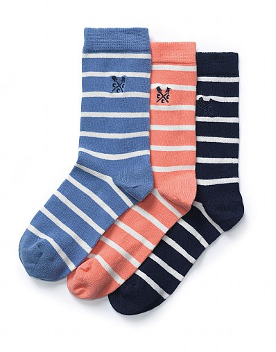 3 Pack Breton Stripe Socks