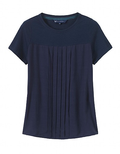 Woven Jersey Mix Top