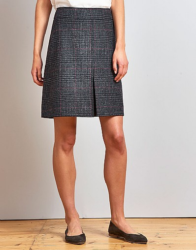 Tweed Check Skirt