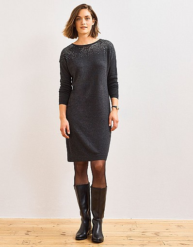 Embellished Knitted Dress