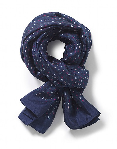 Buds Print Square Scarf