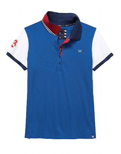 Crew Club Womens Colour Block Polo