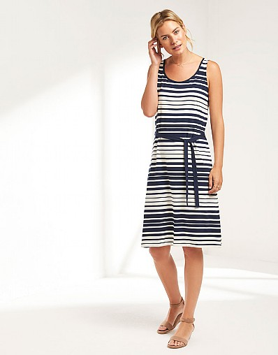 Graduated Stripe Midi Dress