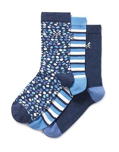 Stockists of 3 Pack Dash Print Socks