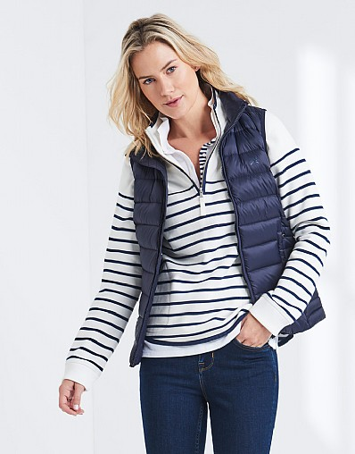Lightweight Down Gilet In Dark Navy