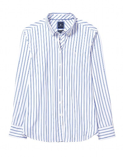 Austell Double Pin Stripe Shirt In Blue