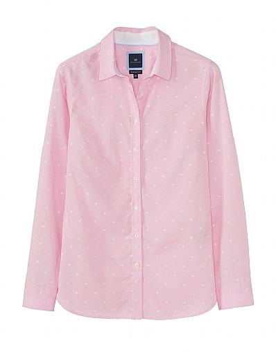Penhale Poplin Embroidered Shirt In Pink