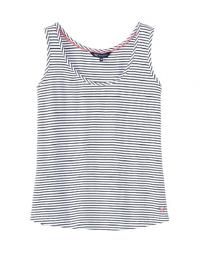 Sandown Easy Jersey Vest In Navy