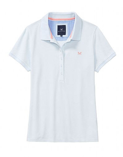 Classic Polo Shirt In Clean Air White