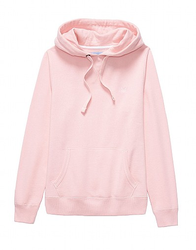 Crew Logo Hoody In Chalk Pink